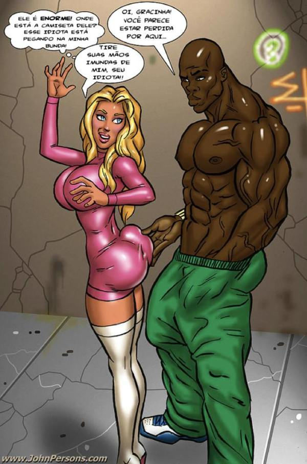 perdida no gueto - quadrinhos eróticos interracial