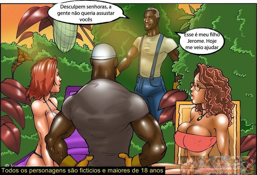 thw wife and the black gardener - quadrinhos interracial - 1