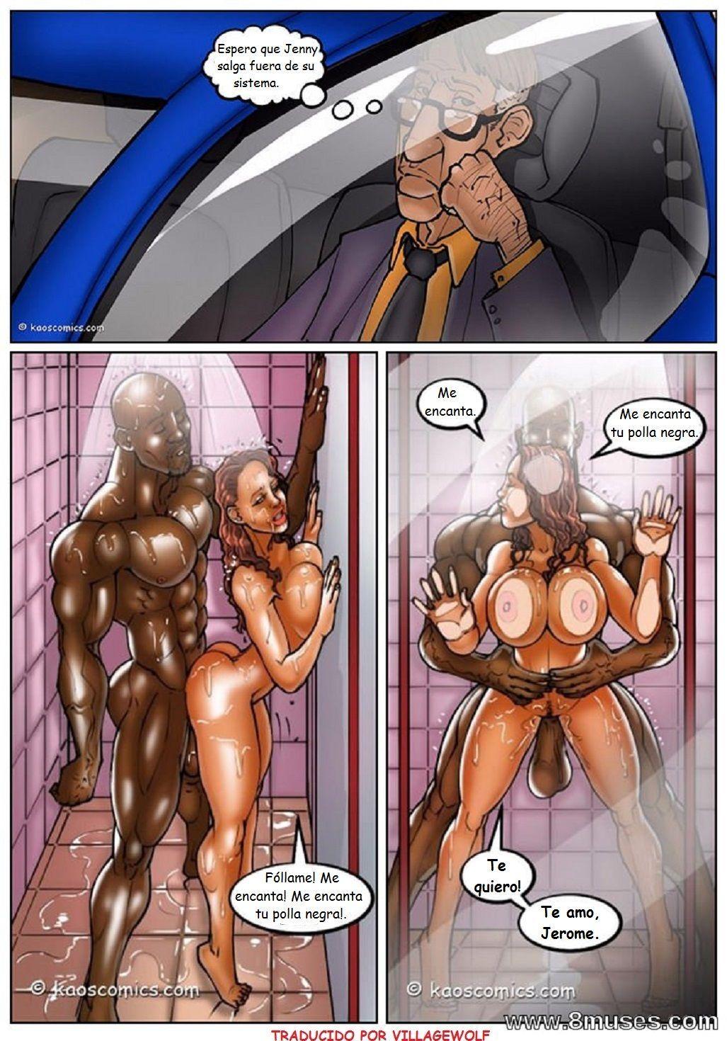 the wife and the black gardener - quadrinhos interracial -