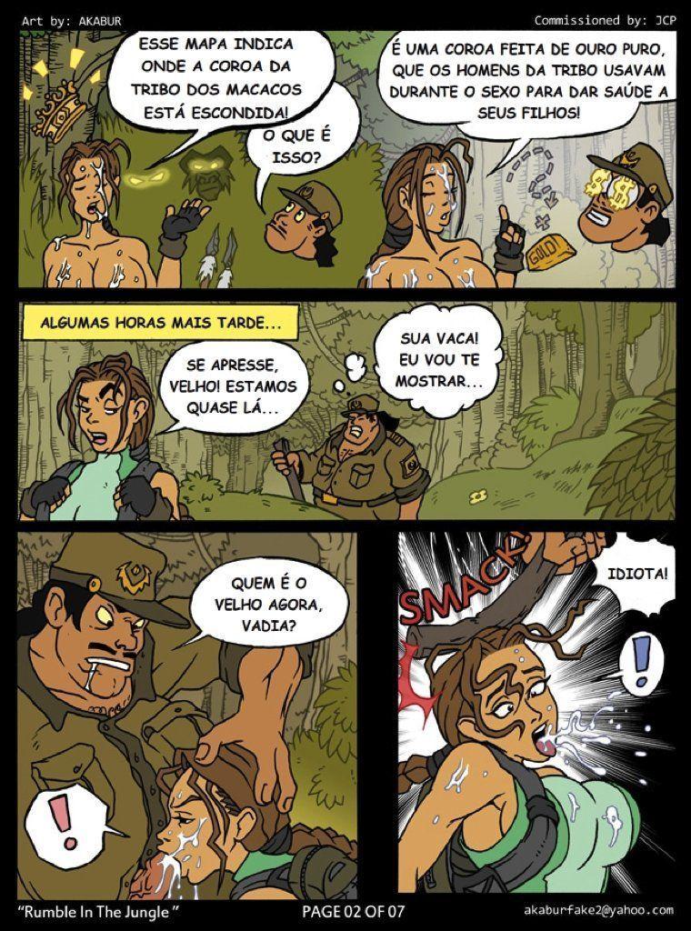 Farra na floresta - lara croft