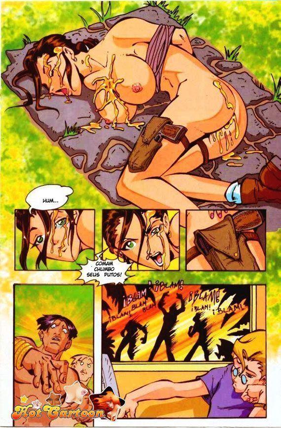 tomb ardeu - quadrinhos eroticos e parodia porno de tomb rider