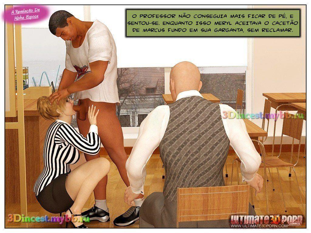 esposa traindo o marido - hqs 3d