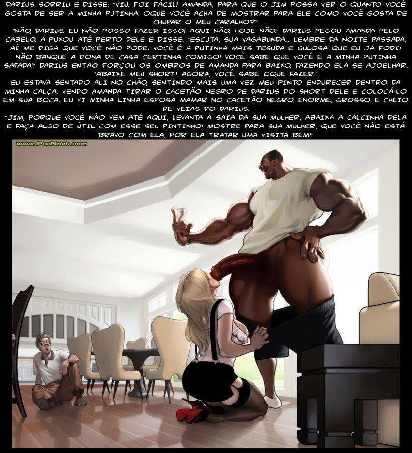 ganhando amanda por intimidação - hqs porno inter-racial