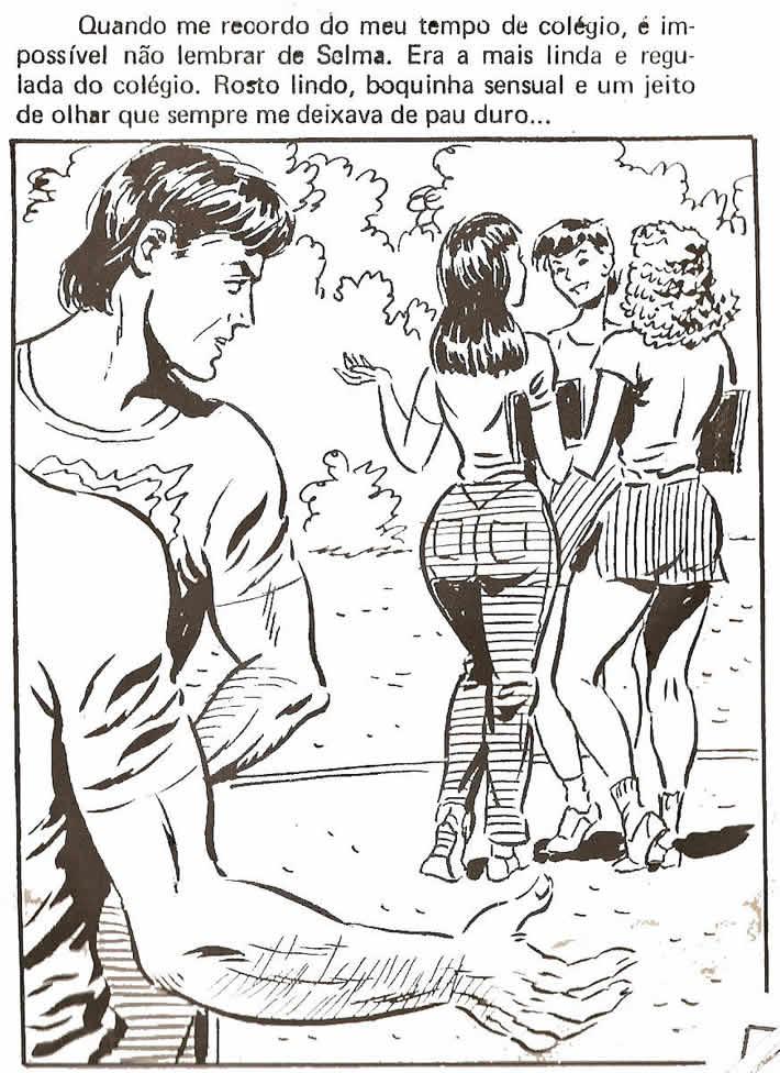 galinha num colegio - quadrinhos eroticos