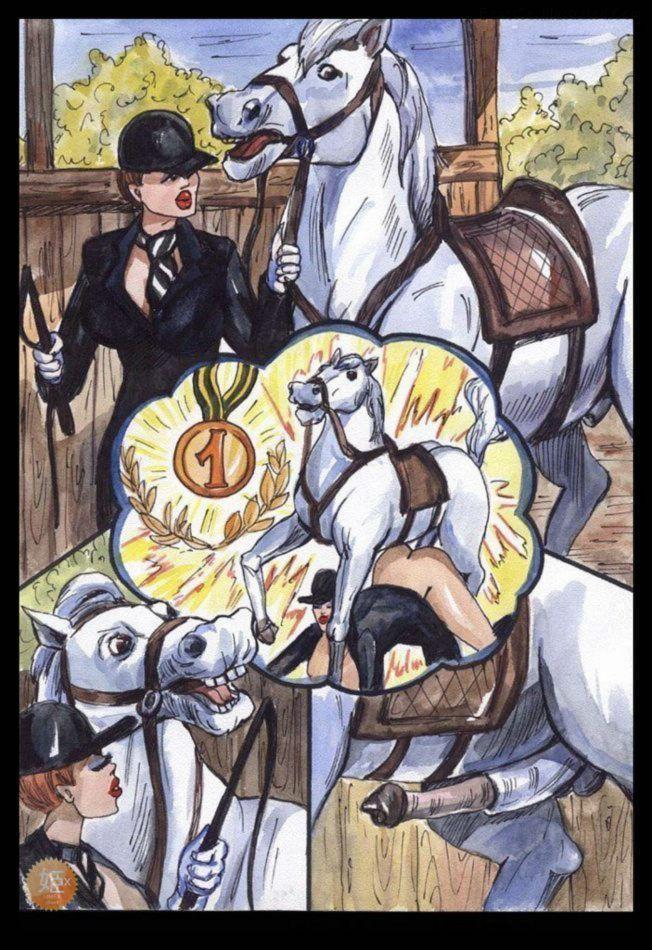 quadrinhos eroticos - sexo com cavalo - zoofilia